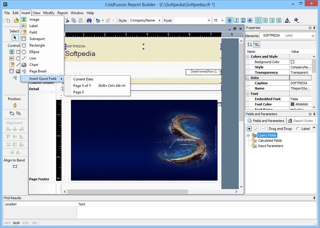 Report builder for windows 7