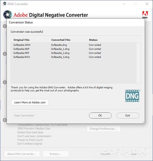 Adobe Dng Converter Windows 10