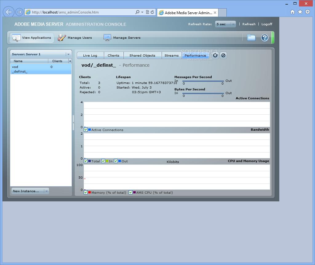 Download Adobe Media Server (formerly Adobe Flash Media Interactive Server)  5 0