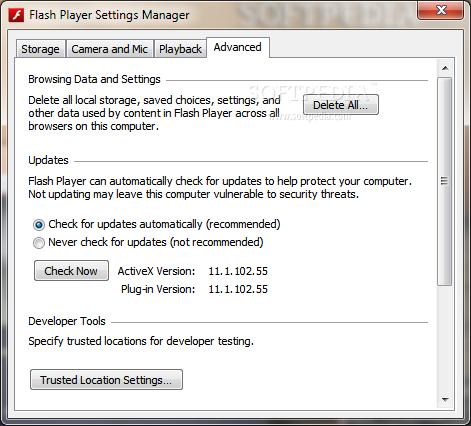 Install debugger flash player