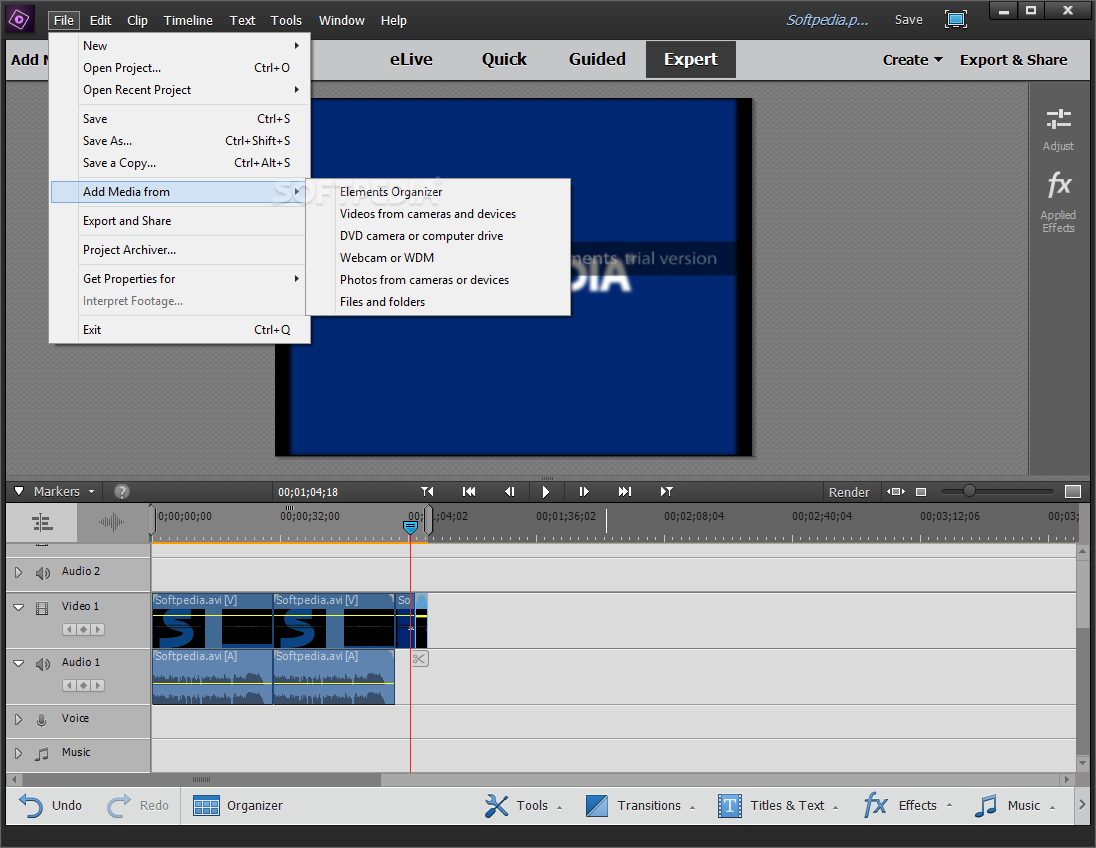 Video's van Adobe premiere elements screenshots in wi…
