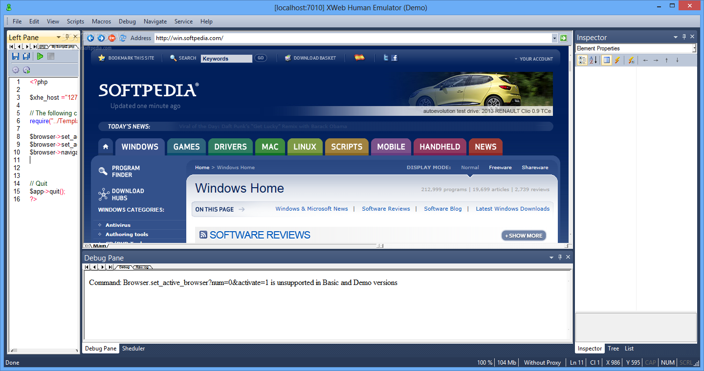 XWeb Human Emulator v (автоматизация и эмуляция действий человека в Интернете)