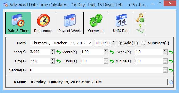 Download Advanced Date Time Calculator 9 1 Build 083