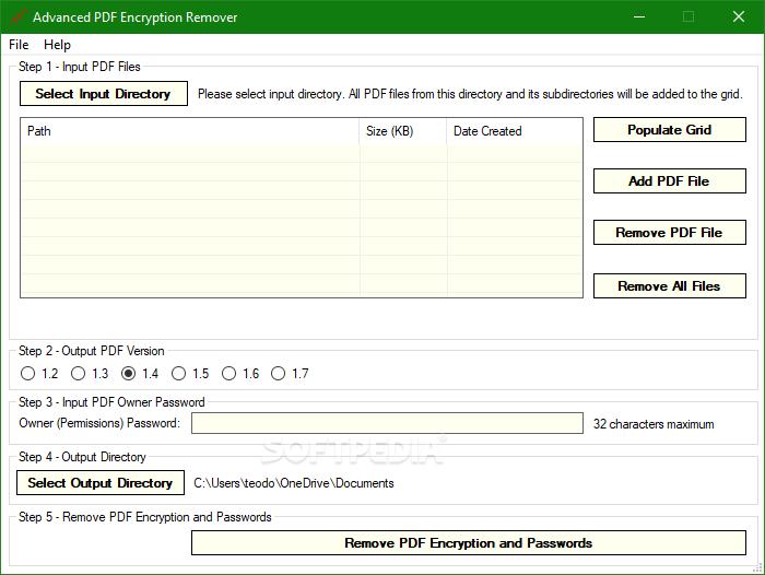 Download Advanced PDF Encryption Remover 1 7