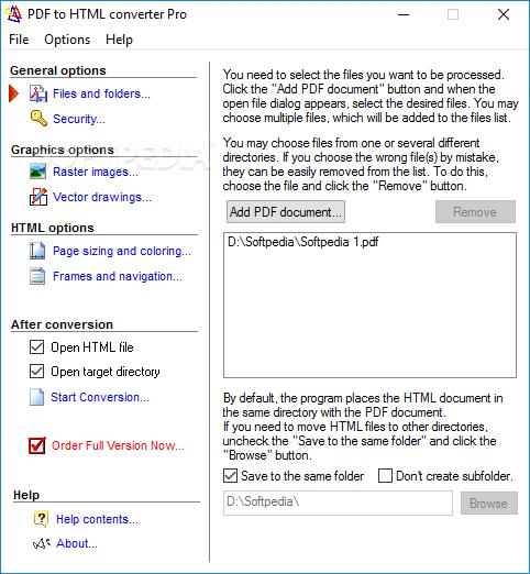 Download Advanced PDF to HTML converter 1.9.9.16