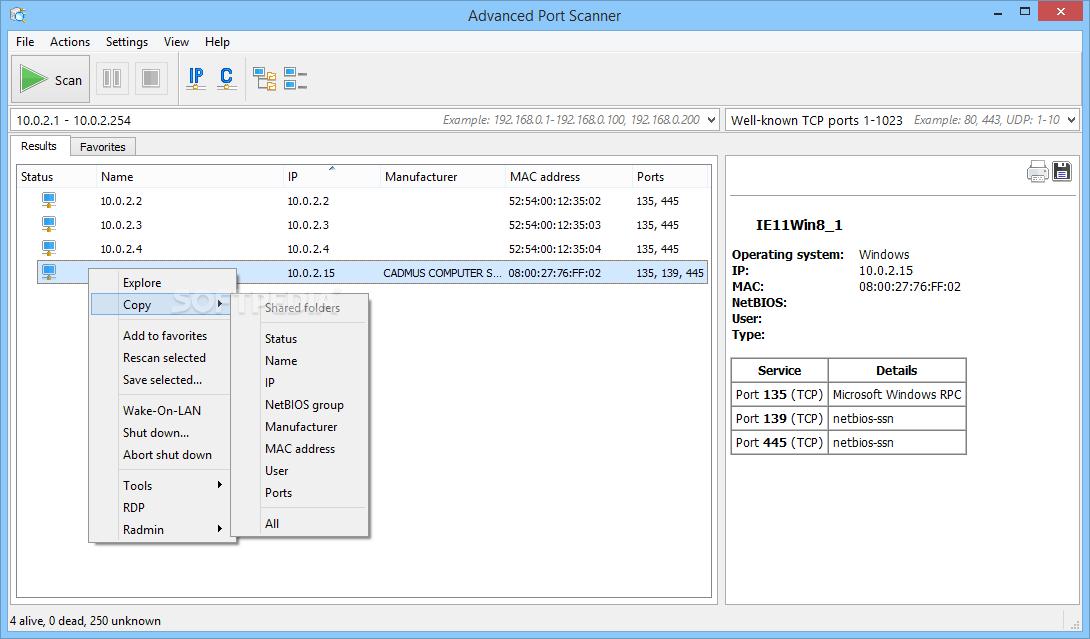 Download Advanced Port Scanner 2 5 3869
