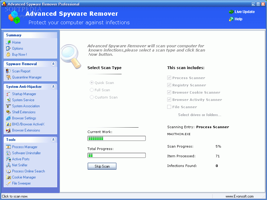 Tips to download freeware spyware and adware removal programs.