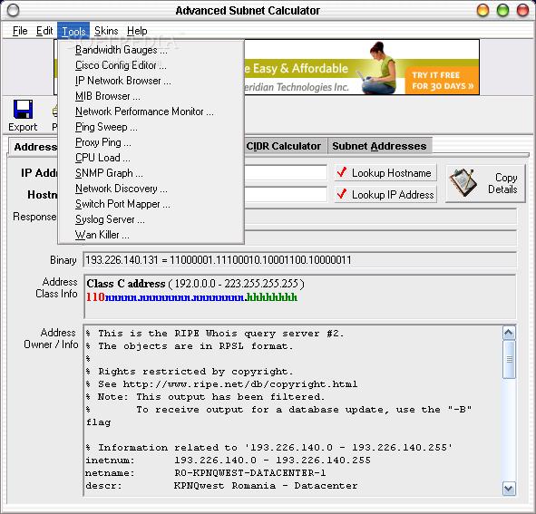 Download Advanced Subnet Calculator 9 0 6