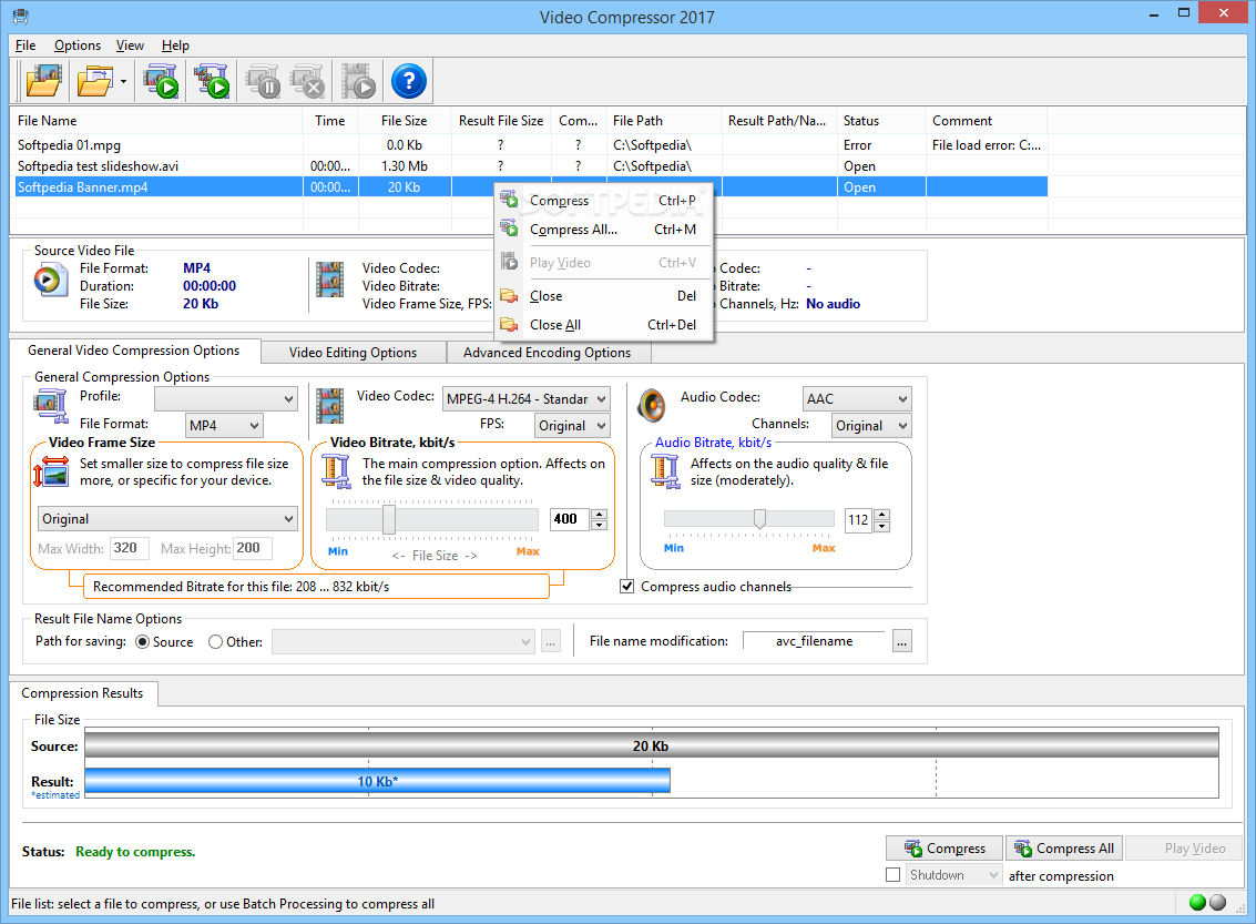 video size compressor software free download full version
