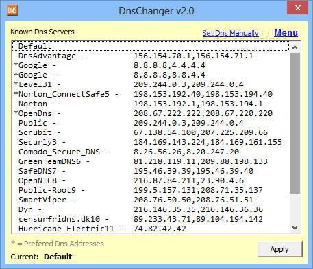 Download DnsChanger 2 0