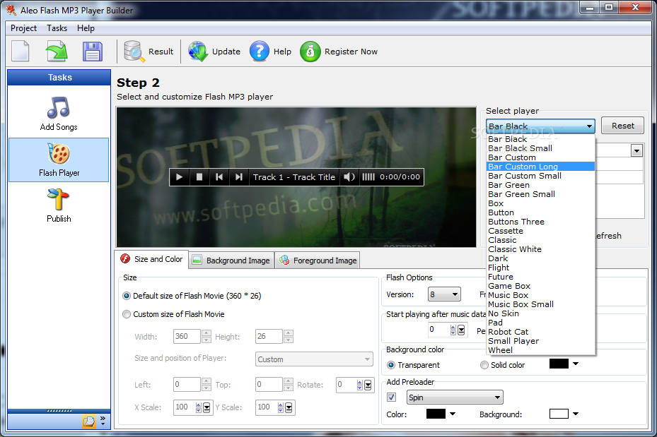 Download Flash MP3 Player Builder 3 4