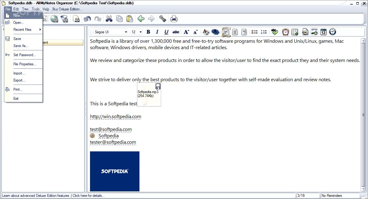 Allmynotes organizer deluxe edition