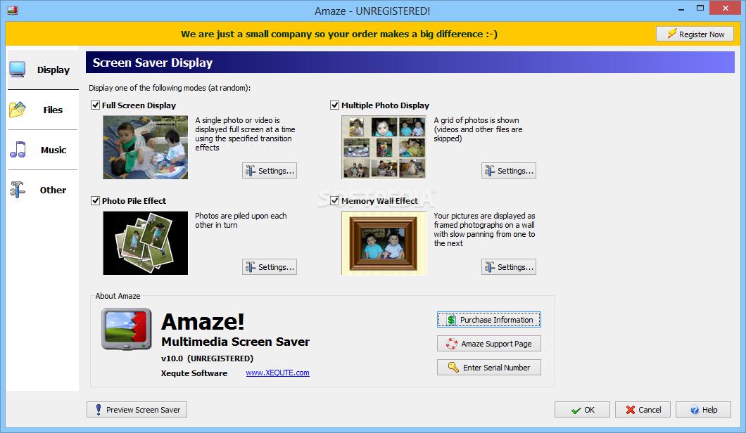 Download Amaze Multimedia Screen Saver 10 0