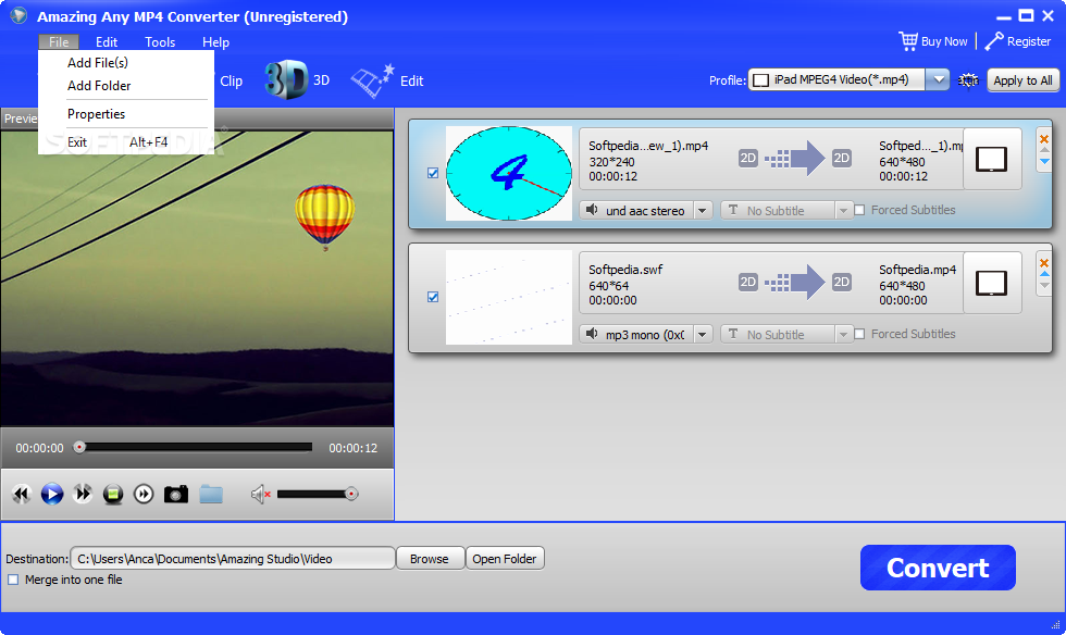 Download Amazing Any MP4 Converter 11 8