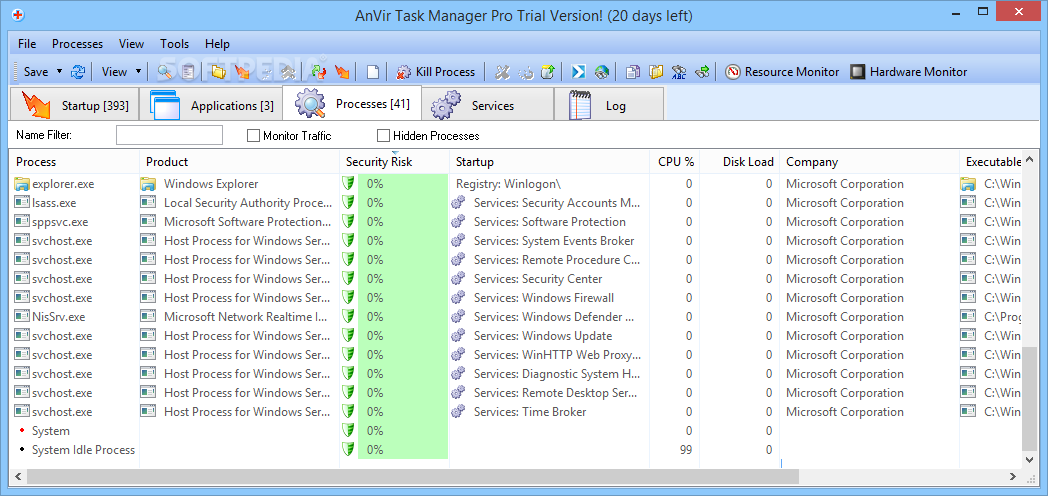 AnVir Task Manager Pro 650