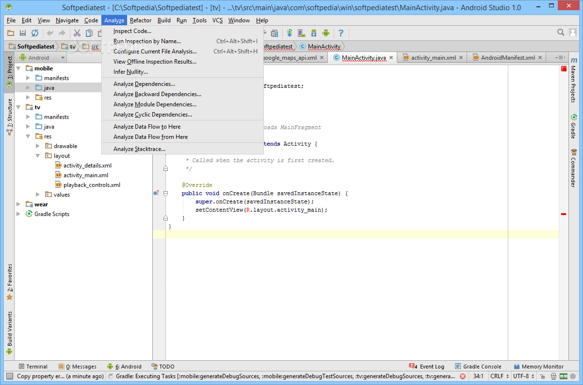 Download Android Studio 3 4 2 / 3 5 RC3 / 3 6 Canary 5