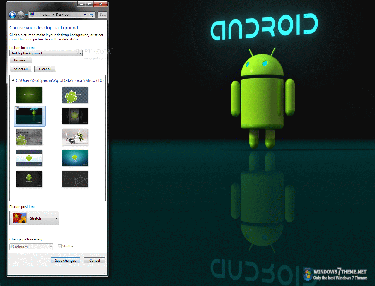 Download Android Windows 7 Theme 1 0