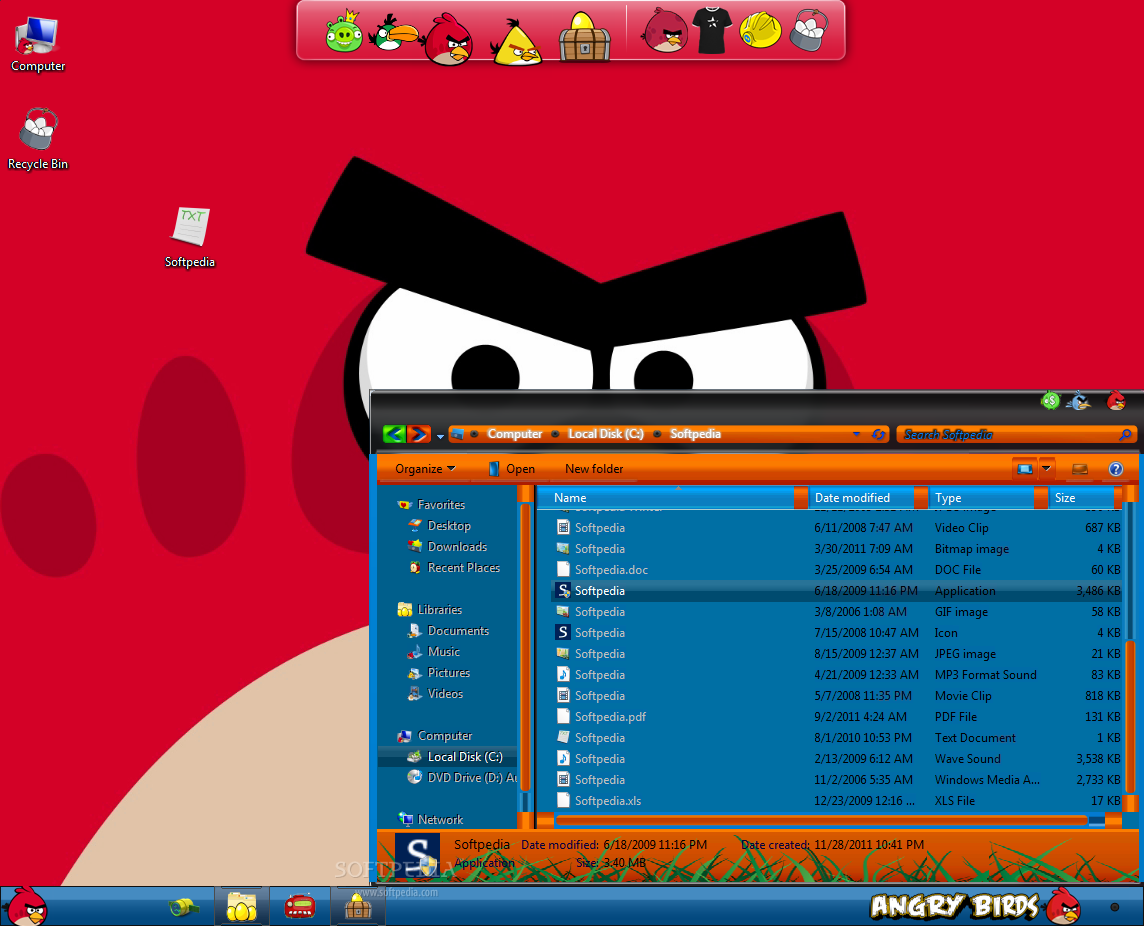 Opinions about Angry Birds Windows 7 Themes