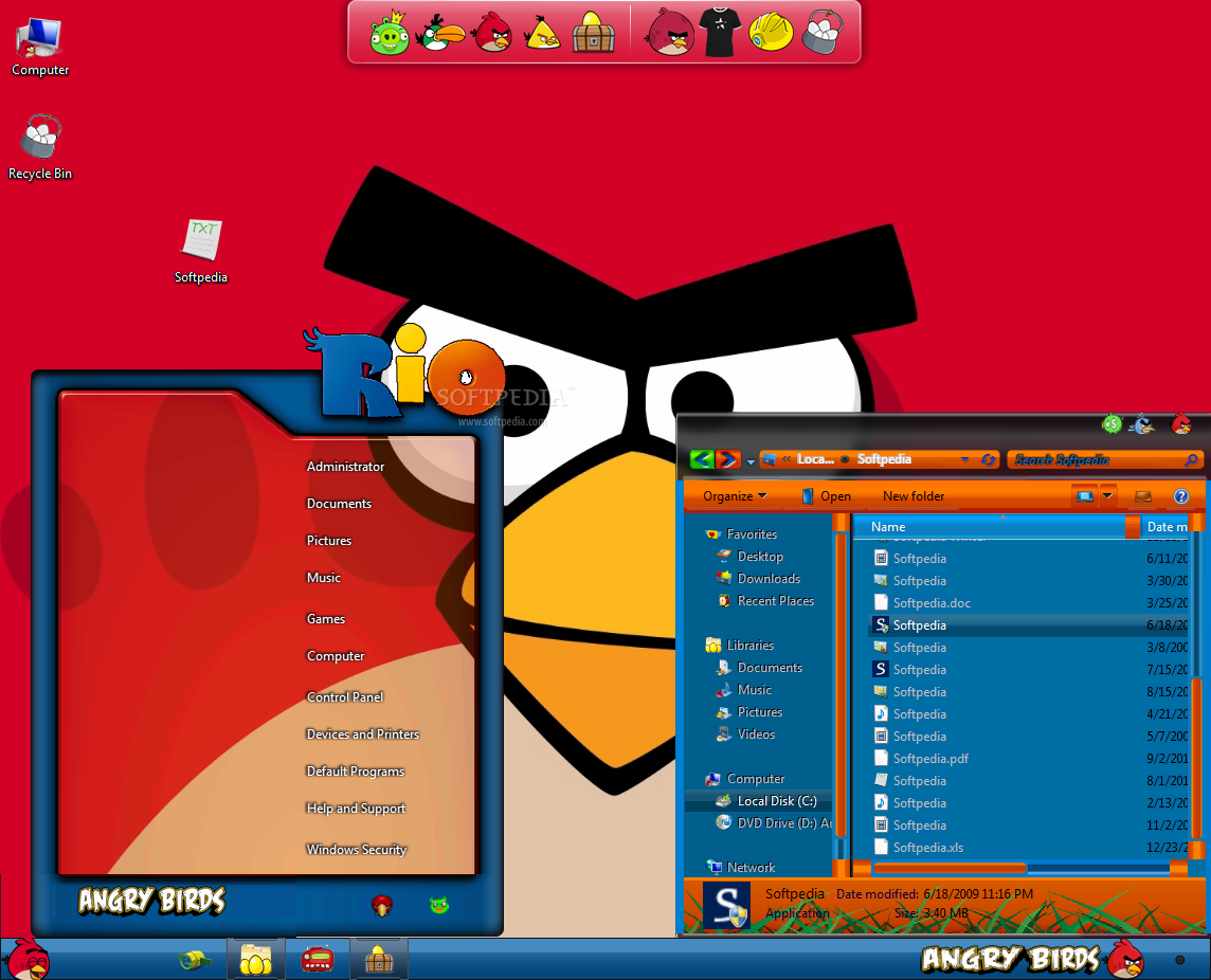 Angry birds rio skin pack skinpack customize your digital world.