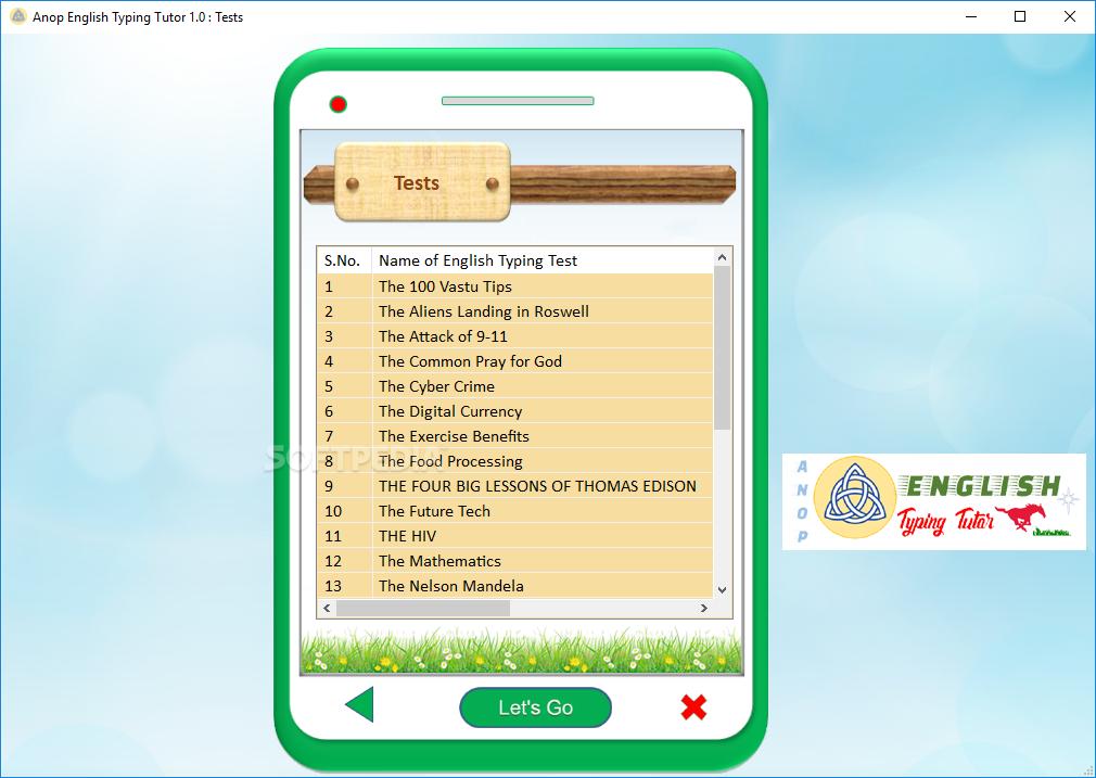 Download Anop English Typing Tutor 1 0