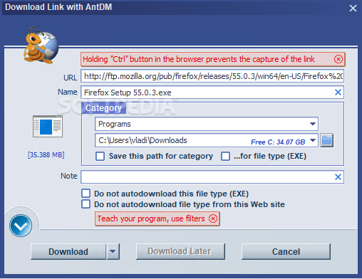 Download Ant Download Manager 1 14 3 Build 62701 / 1 14 4 Build 62718