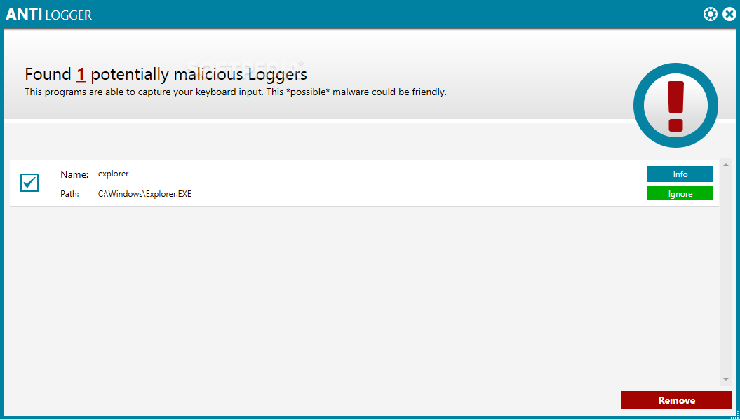 Download AntiLogger 2019 (3.0) ... AntiLogger - When a keylogger is detected, you have the possibility of  deciding whether to ...
