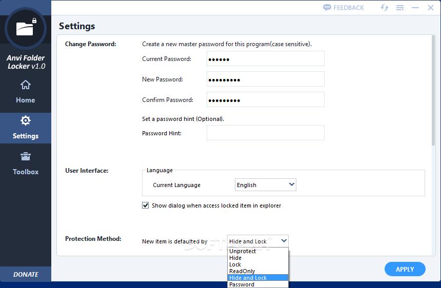 Download Anvi Folder Locker 1.2.1370.0