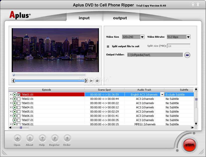 Aplus DVD Video to 3GP Ripper screenshot 2 - When you want to rip a DVD, yo