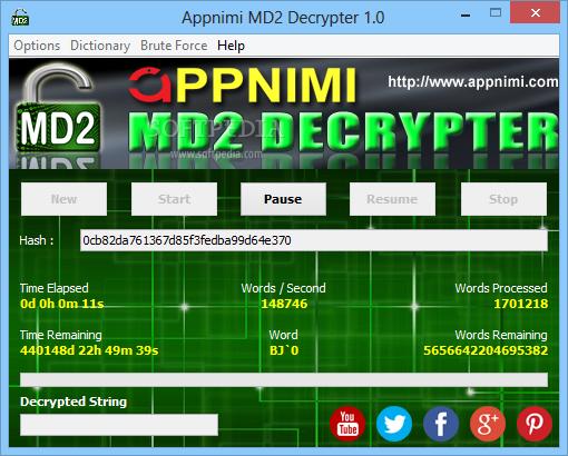 Download Appnimi MD2 Decrypter 1 0