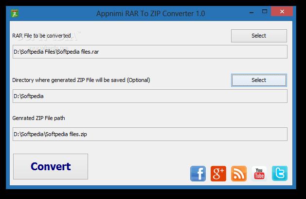 Convert RAR to ZIP