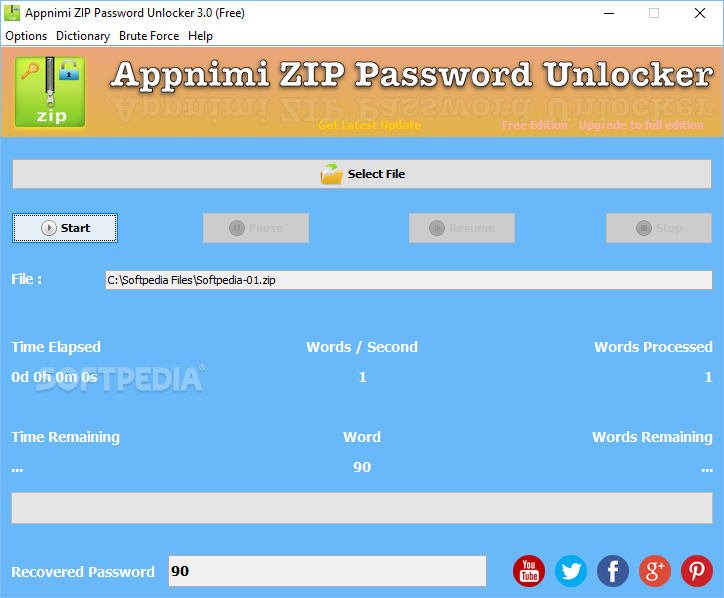 free download zip password unlocker full version