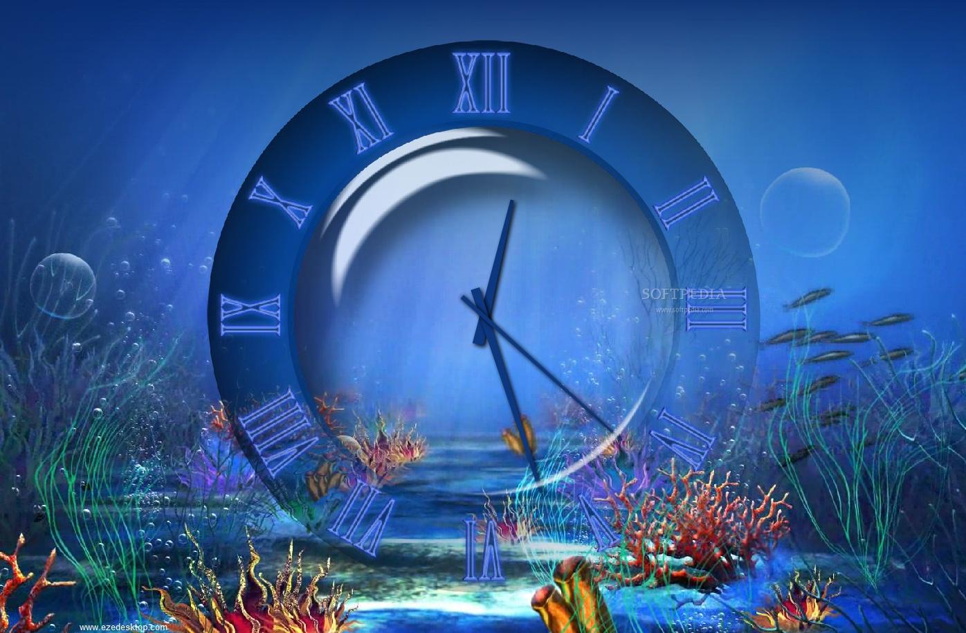 download aquatic clock screensaver 4 2