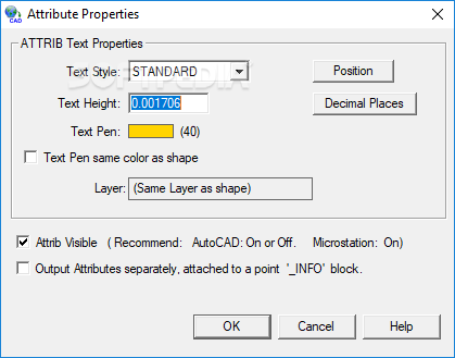 Arcv2CAD screenshot 3 - Users will be able to access options such as Output Format or Projection within the Global Settings window
