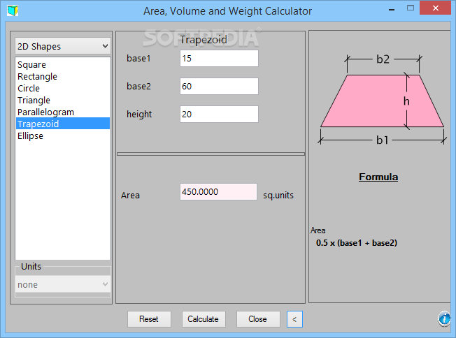 Download Area Volume And Weight Calculator 1 0