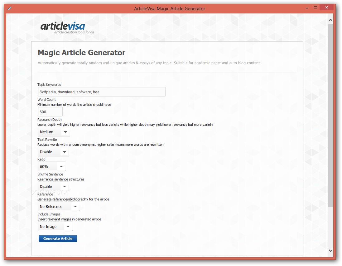 articlevisa magic article generator