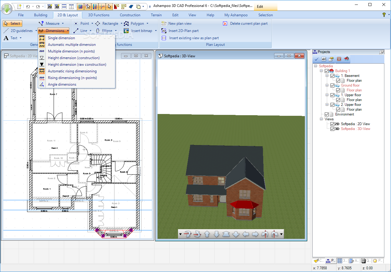 Download Ashampoo 3d Cad Professional 610 Electrical Plan Screenshot 4