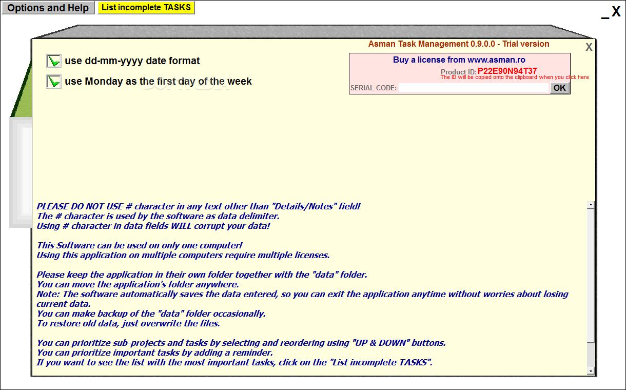 Download Asman Task Management 1905