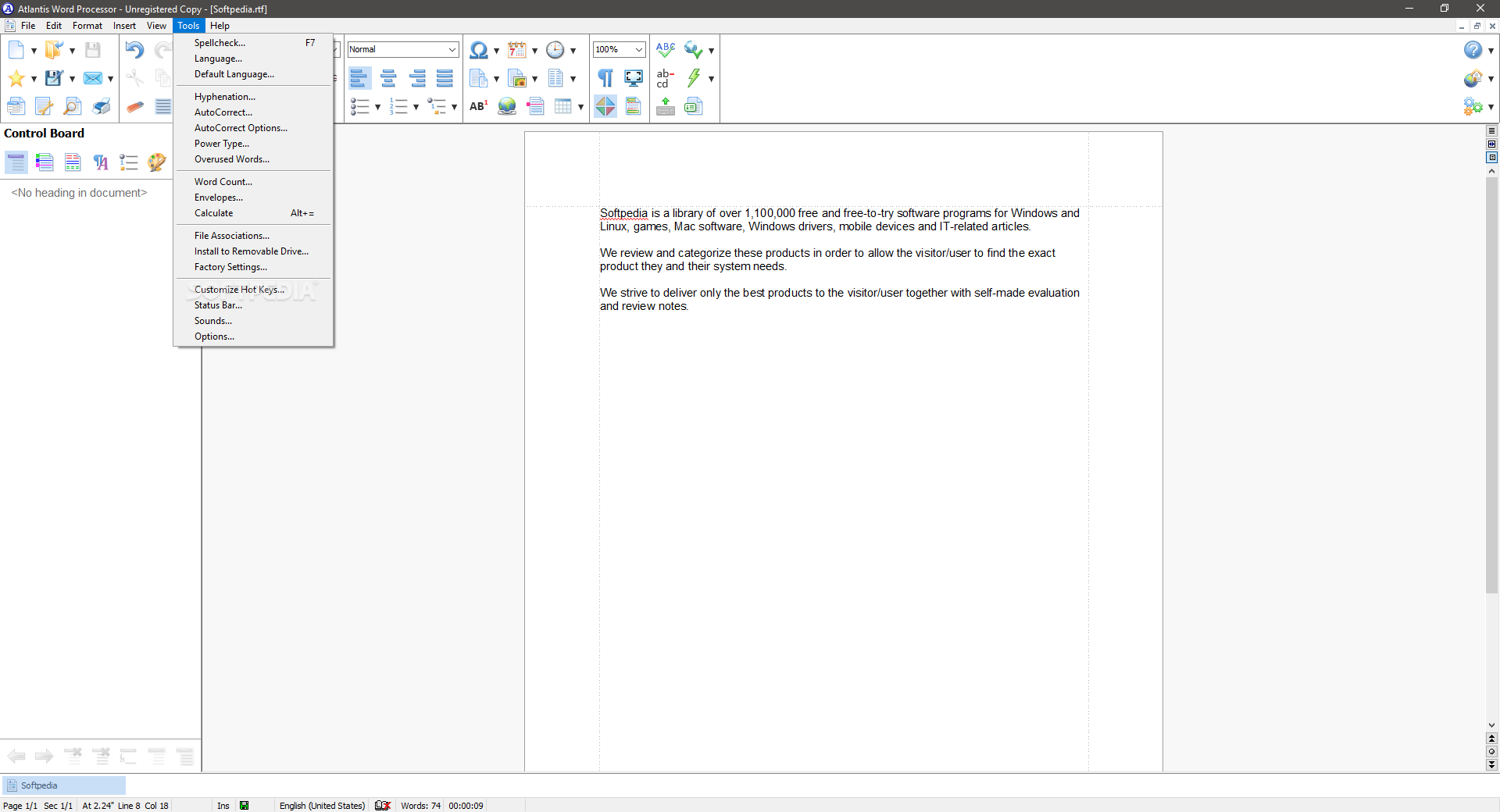 free word processing for windows 7