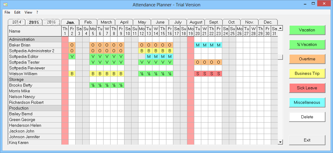 Download Attendance Planner 1 16 Release 4