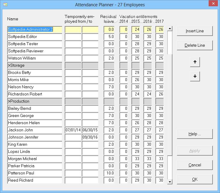Attendance planner