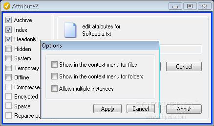 how to set file attribute e