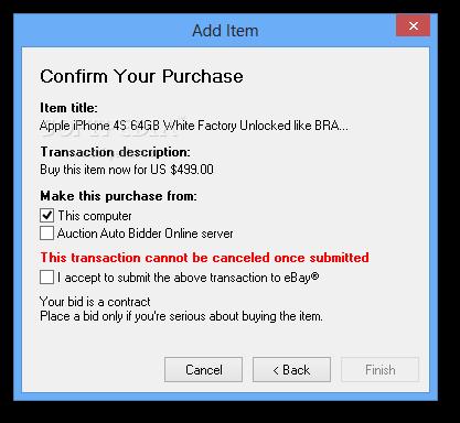Ebay Automatic Bidder