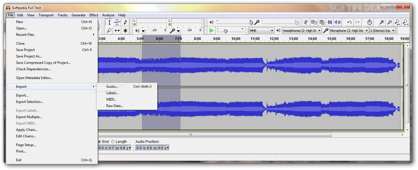 audacity how to change bitrate windows 10