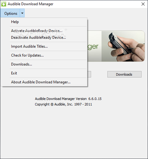 Download Audible Download Manager 6 6 0 12
