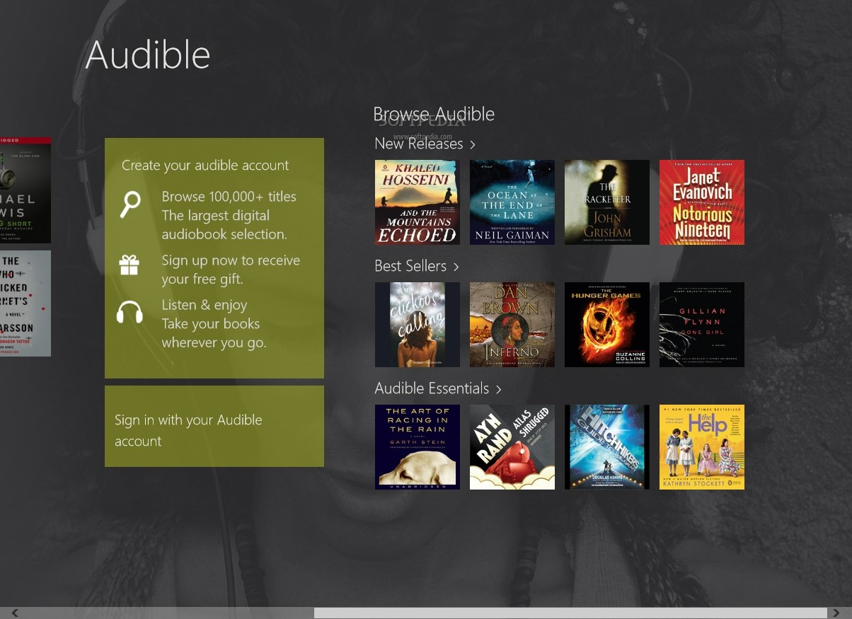 audible sound experience ebooks review
