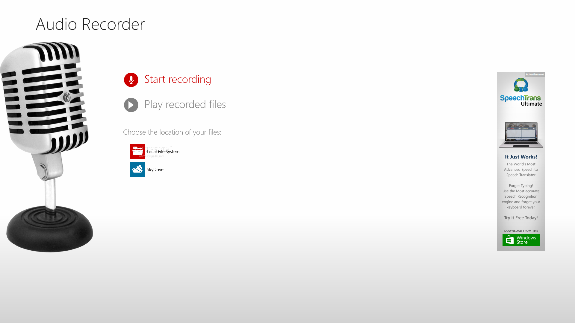 Audio recorder for windows 8 download for Window recorder