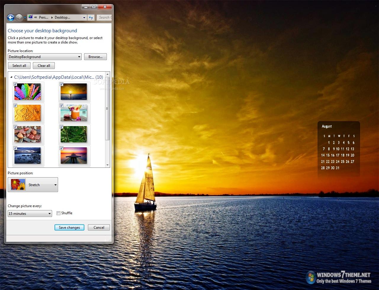 August 2011: Download August 2011 Calendar Windows 7 Theme 1.0