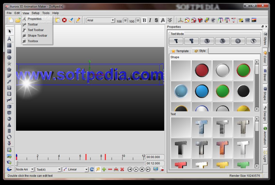 aurora 3d animation templates download
