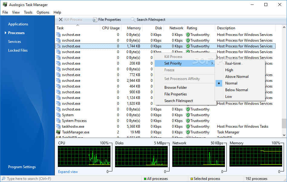Auslogics Task Manager 2200
