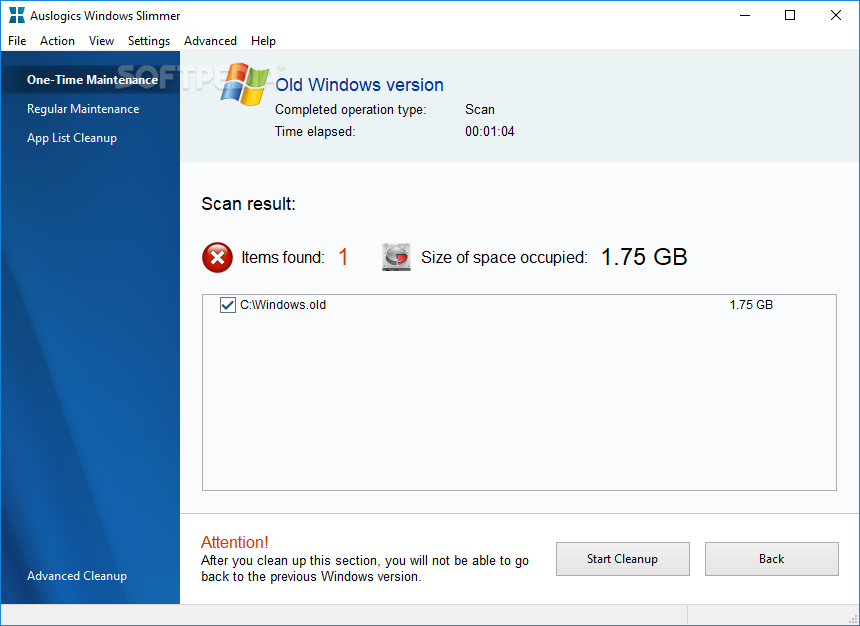 Auslogics Windows Slimmer 1.0.20.0 多國語言免安裝版